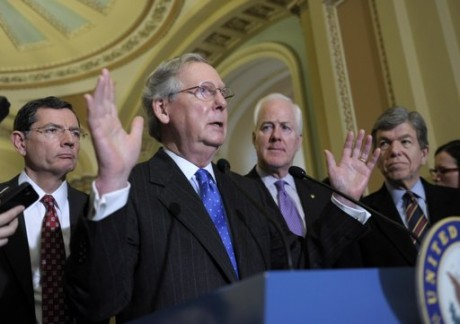 Sen. Mitch McConnell: Senate leader of failed Republicans.  (AP Photo/Susan Walsh)