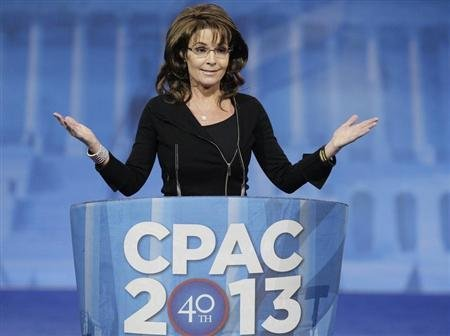 Sarah Palin brings her dog and pony show to CPAC. ( REUTERS/Jonathan Ernst)