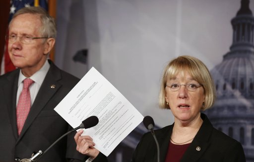 Sen. Patty Murray and Majority Leader Harry Reid ( REUTERS/Larry Downing