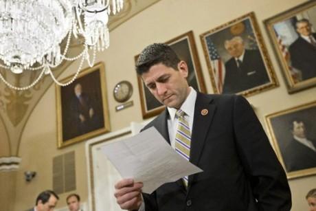 Rep. Paul Ryan: His budget falls flat in Senate. (AP Photo/J. Scott Applewhite)