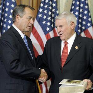 House Speaker John Boehner of Ohio, and Rep. John Carter, R-Texas. (AP Photo/Cliff Owen, File)