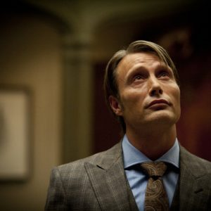 "Mads Mikkelsen as Dr. Hannibal Lecter in a scene from the TV series, ""Hannibal,"" airing Thursdays at 10 p.m. EST on NBC. NBC says it's pulling an episode of its serial killer drama out of sensitivity to recent violence, including the Boston bombings. The episode, the fourth for the freshman series, will be replaced by another ""Hannibal"" hour."