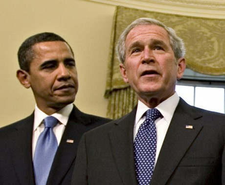 Barack Obama and George W. Bush  (AP Photo/J. Scott Applewhite, File)