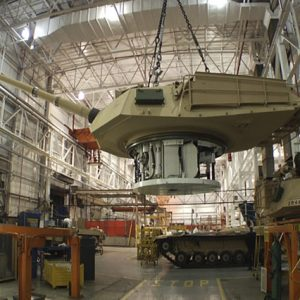 Production of an Abrams tank in Lima, Ohio. (General Dynamics Land System, File)