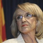 Arizona Governor Jan Brewer . REUTERS/Darryl Webb