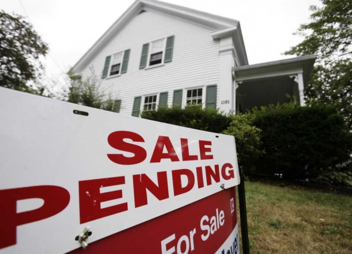 Home sale contracts at three-year high