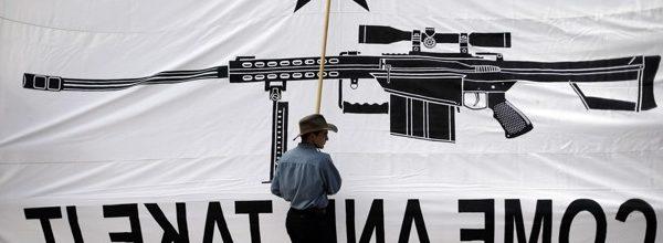 Donald Trump cons gullible gun fanciers