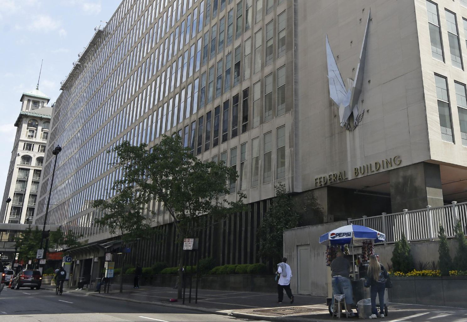 The John Weld Peck Federal Building, shown Tuesday, May 14, 2013, in Cincinnati, houses the main offices for the Internal Revenue Service in the city. (AP Photo/Al Behrman