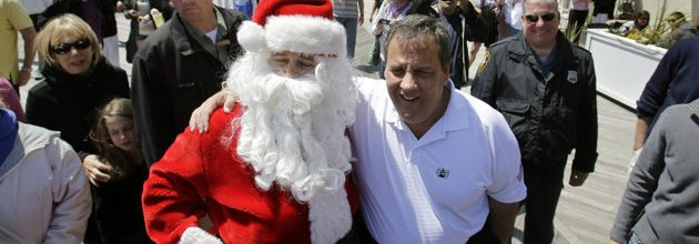 Barack Obama and Chris Christie: Together again