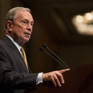 Mayor Michael Bloomberg speaks at the Real Estate Board of New York on Thursday. (AP Photo/John Minchillo)