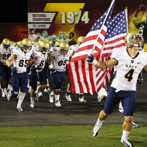 Did the Navy football team score off the field?