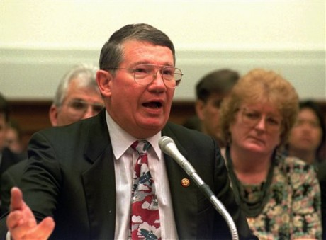 "Rep. Randy ""Duke"" Cunningham. (AP photo/Dennis Cook, File)"