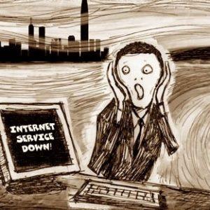 Ye gads! No Internet service?