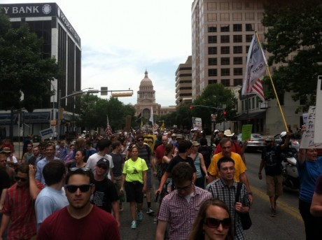 Restore the Fourth marchers in Austin, Texas (photo courtesy of Reddit.Com)