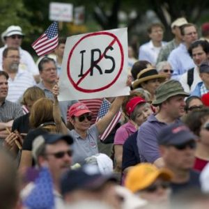 Tea Party protesters show their anger.