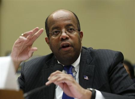 J. Russell George testifies at a House Oversight and Government reform hearing in Washington
