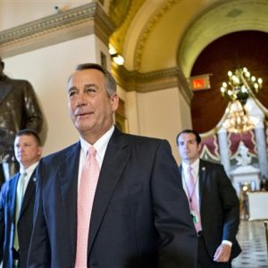 Speaker of the House John Boehner.  (AP Photo/J. Scott Applewhite)