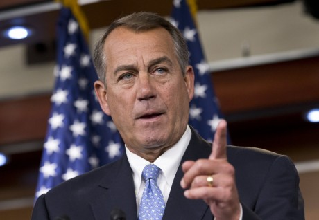 "John Boehner's words of less than wisdom:  ""Let's repeal old laws, not pass new ones"" (AP Photo/Scott Applewhite)"