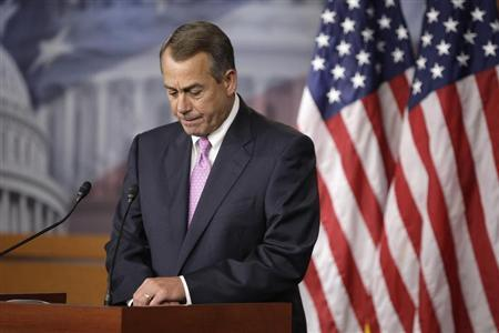 "House Speaker John Boehner: ""What, me lead?"" (REUTERS/Jonathan Ernst)"