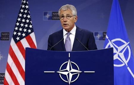 Defense Secretary Chuck Hagel . (REUTERS/Francois Lenoir)