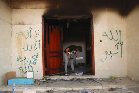 U.S. Consulate in Libya after attack (AP)