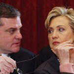 Senator Mark Pryor with Hillary Clinton (AP)