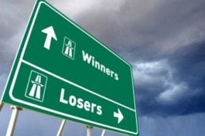 Which way for winners or losers?