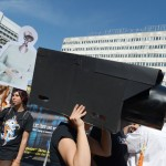 A protest against American spying in Berlin ((AP/Ranier Jensen)