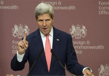 Secretary of State John Kerry.  (REUTERS/Alastair Grant)