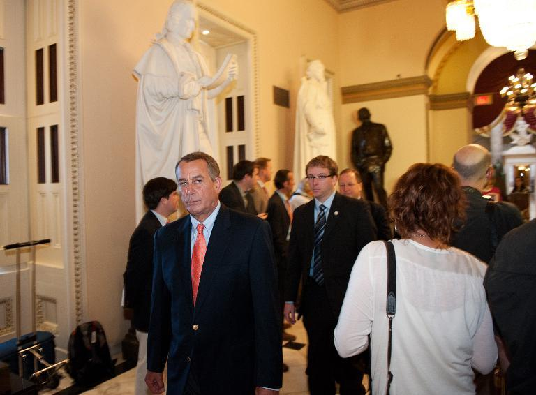 Unhappy Speaker of the House John Boehner.  The hardcore plan is failing. (AFP/Mandel Ngan)