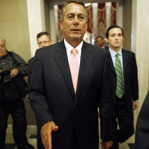 House Speaker John Boehner (R-OH) returns to his office. (REUTERS/Jonathan Ernst)