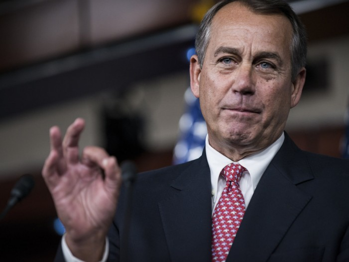John Boehner: When drunks lead Congress, disaster is the only option