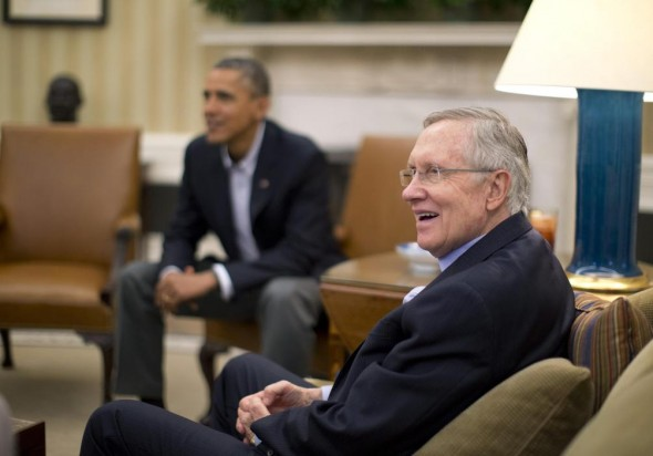 President Barack Obama & Senate Majority Leader Harry Reid. (Reuters/Jason Reed)