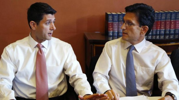 Reps. Paul Ryan and Eric Cantor (REUTERS/Jonathan Ernst)