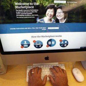 Obamacare online signup page (Reuters/Mike Segar)