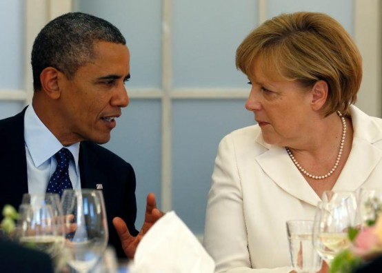 President Barack Obama and German Chancellor Angela Merkel (AFP/Michael Sohn)