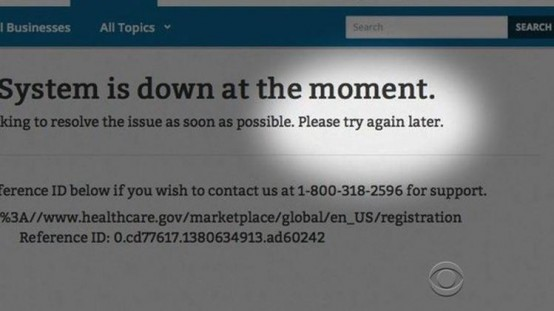 The trouble Obamacare web site.