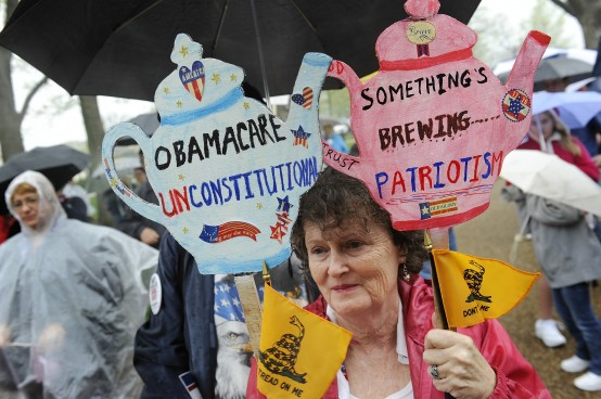 A typical tea party demonstration in Washington. Lots of blather, little reality. (Reuters/Jonathan Ernst)