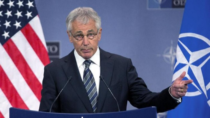 Hagel mad at homophobic actions against National Guard