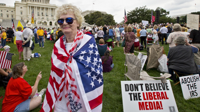 The tea party: Working to take full control of the Republican Party.  (AP Photo/J. Scott Applewhite)