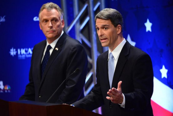 Terry McAuliffe (left) and Ken Cuccinelli.