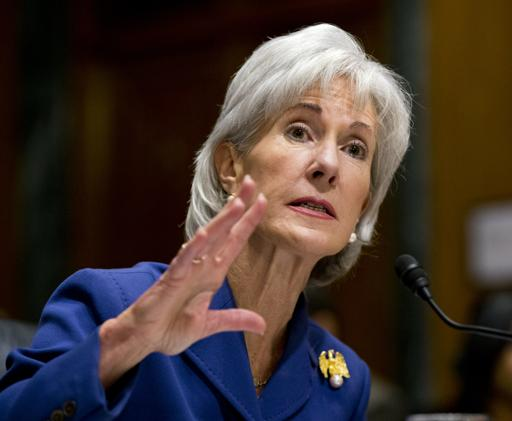Health and Human Services Secretary Kathleen Sebelius testifies on Capitol Hill.  (AP Photo/J. Scott Applewhite)