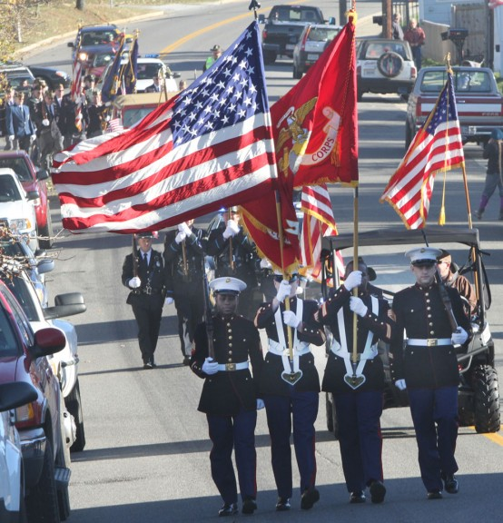 Sunday's Veterans Day parade in Floyd, Virginia (Photo by Doug Thompson)