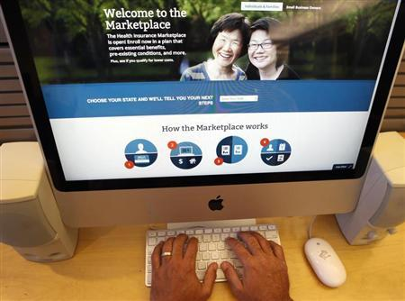 Looking over the Affordable Care, if you can get online. (REUTERS/Mike Segar)