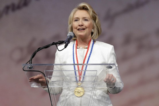 Hillary Clinton:  The presumed favorite (AP/Matt Rourke)