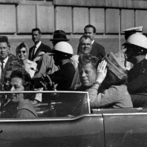 President John F. Kennedy and his wife, Jackie, in Dallas.