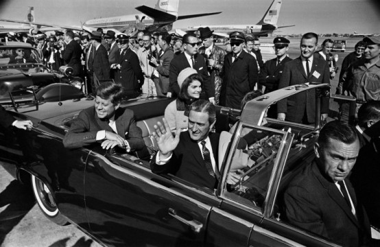 President John F. Kennedy arriving in Dallas in 1963.