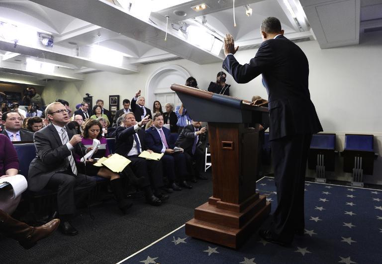 President Barack Obama at White House press conference (AFP/Jewel Samad)