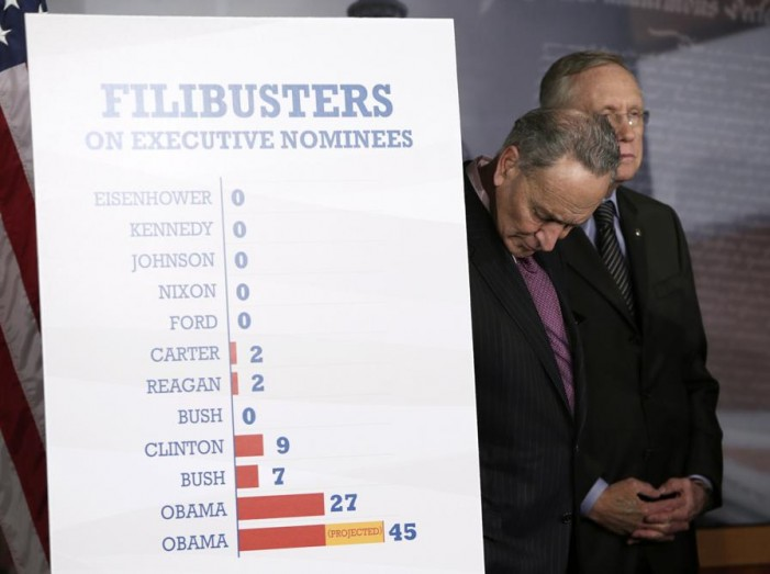 Political fallout from change in Senate filibusters rules