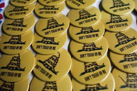 Tea party buttons. (REUTERS/Chris Keane)